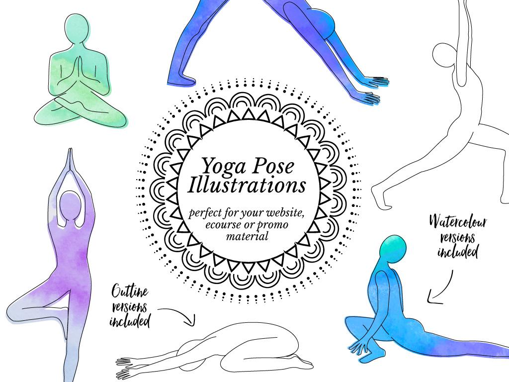 Yoga Pose graphics