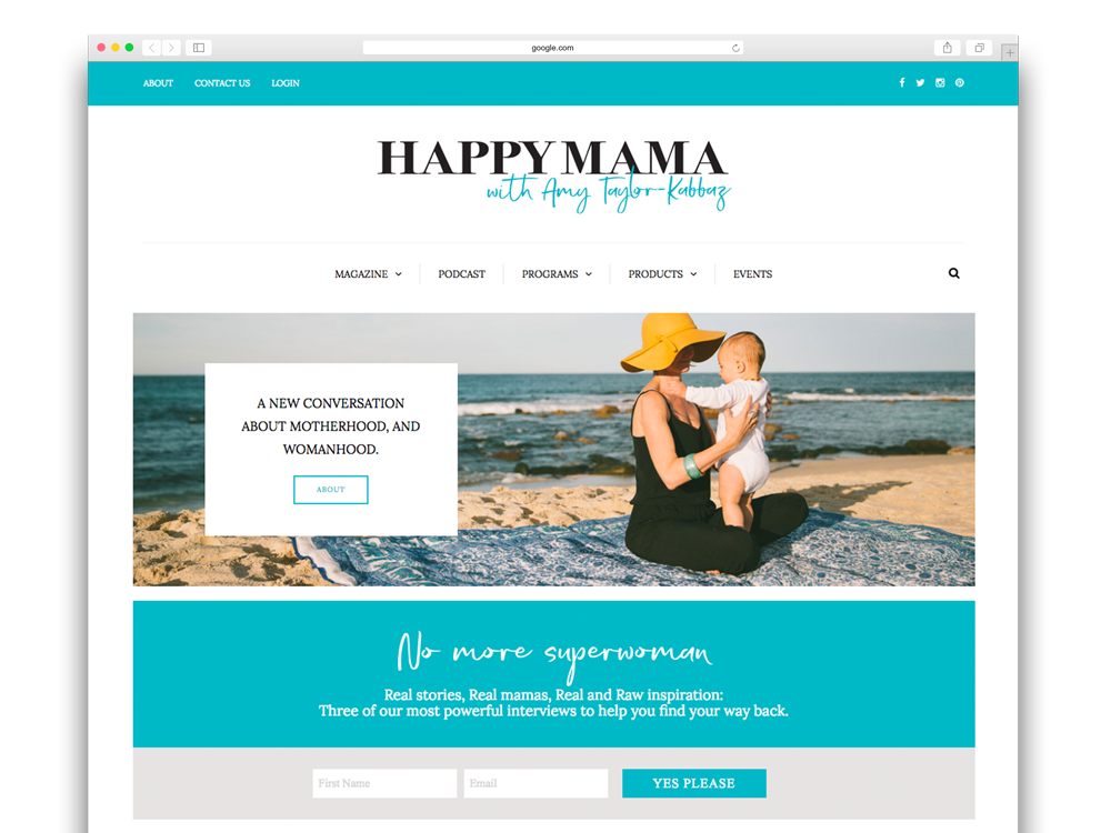 Happy Mama website design