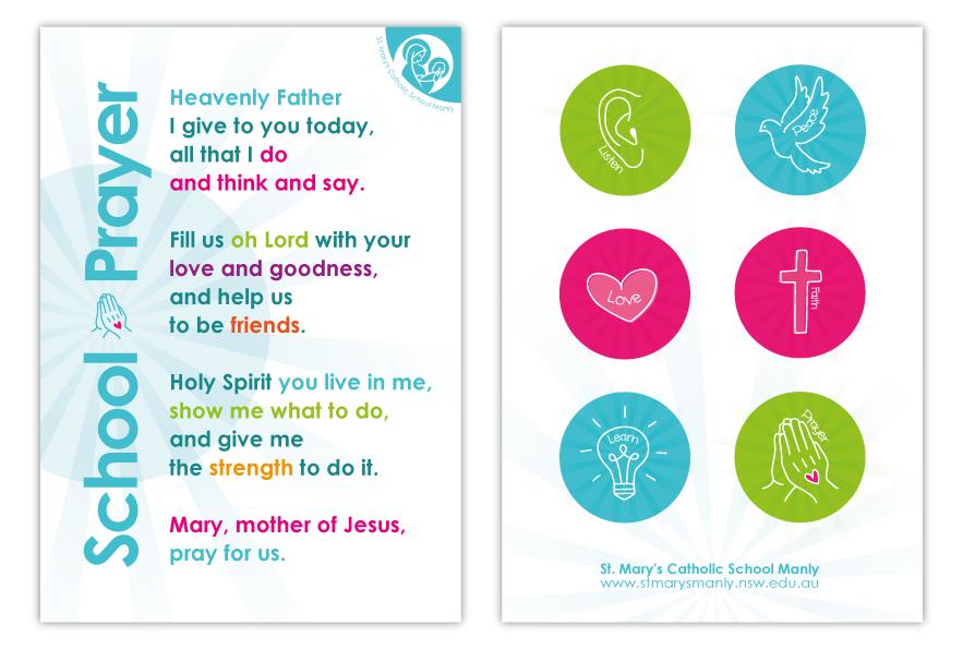 School Prayer sheet