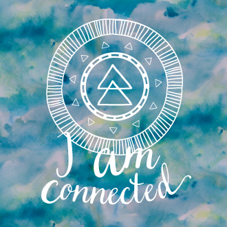 Illustration – I am connected mandala