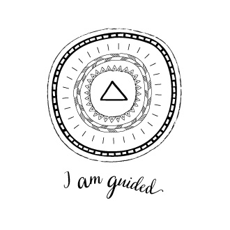 Illustration – I am guided mandala