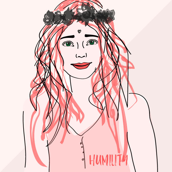 Female Humility Illustration